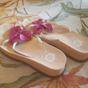 Shoes - Yellow Box Sandal with Pink Floral Leather Upper